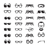 Glasses icons. Vector format