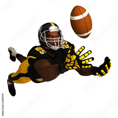 Black Football Player