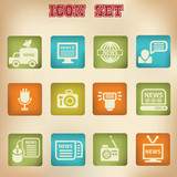 News vintage icons,vector