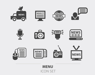 News icon set,vector