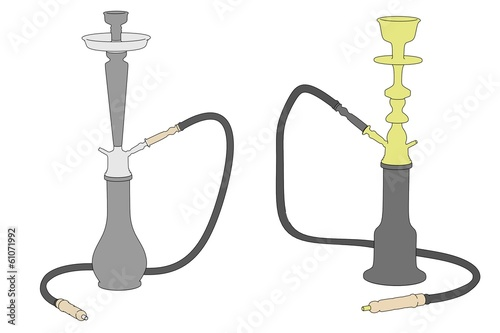 cartoon image of shisha pipe