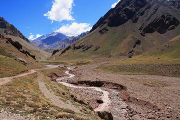 Argentina National Park. Road to aconcagua