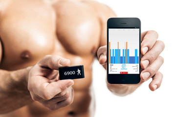 bodybuilding man activity tracker