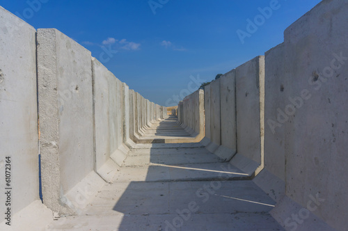Stacked concrete drainage