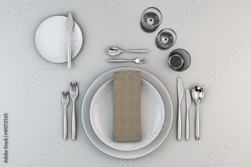 Leinwandbild Motiv gedeckter Tisch