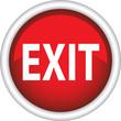 Круглый векторный знак с надписью EXIT