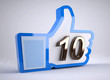 like button with number 10