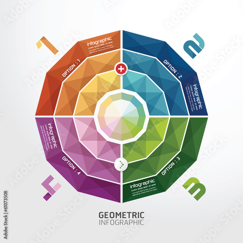 Geometric colorful Modern Design  / can be used for infographics