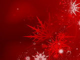 Red Christmas snowflakes