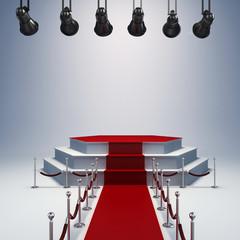 3d spot lights and stage setup