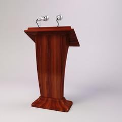 3d tribune speech and  microphones