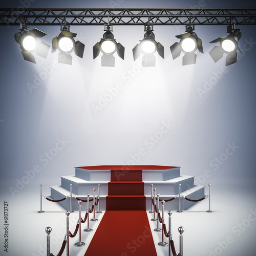 3d spot lights and stage setup