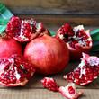 juicy pomegranates on the table