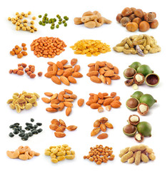 almond ,macadamia nuts, peanut , black beans, Cashew Nuts, green