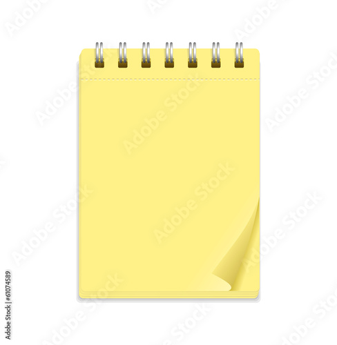 Yellow note paper and rings