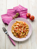 fusilli with mozzarella tomatoes and hot chili pepper