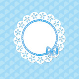 lacy frame on the blue seamless background