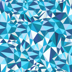 Blue Mosaic Triangles Pattern
