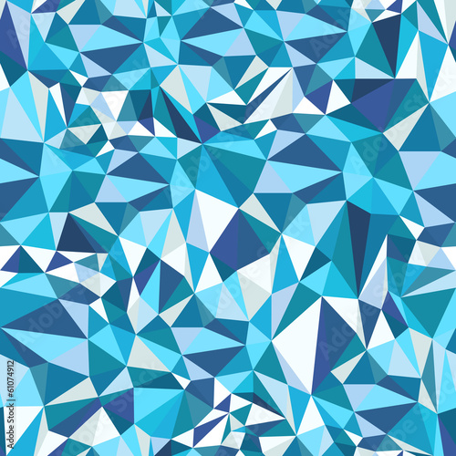 Blue Mosaic Triangles Pattern