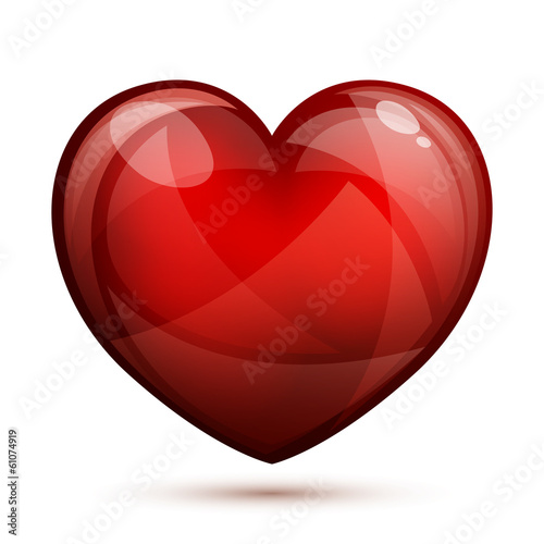 Vector Illustration of a Decorative Red Heart