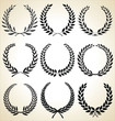 Laurel wreath, set