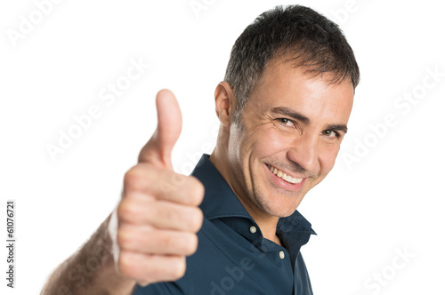 Mature Man Gesturing Ok Sign
