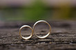 Rings on Wooden Surface - 61077321