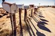 Mail boxes at Arizona desert - 61077522
