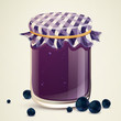 Vector Illustration of Homemade Blueberry Jam