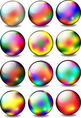 Rainbow Glossy Ball Set