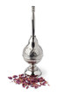 Moroccan rose water sprinkler and petals