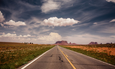 Long road to Monument Valley