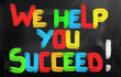 We Help You Succeed Concept