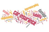 Car insurance words - tag cloud illustration