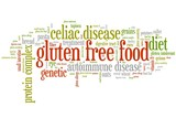 Gluten free words - tag cloud illustration