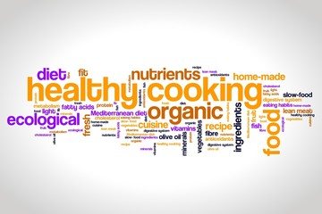 Healthy diet words - tag cloud illustration