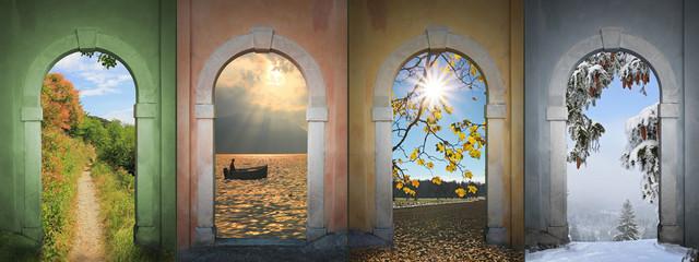 Vier Jahreszeiten -  Collage 5
