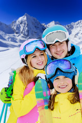 Ski, winter - young skier enjoying winter vacation
