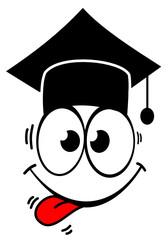 Gesicht Absolvent Uni