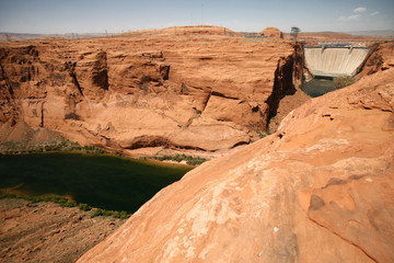 Colorado river close to the dam in Glen canyon, USA