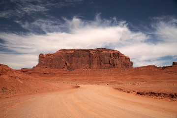 Famous Monument Valley, desert canyon in Utah, USA