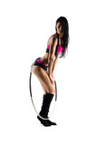 fitness with sports hoop