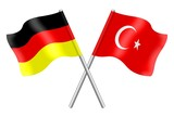 Flags: Germany and Turkey
