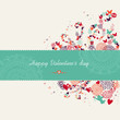 Valentine`s day banner greeting card