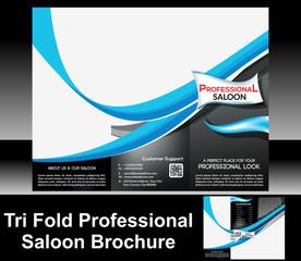 Tri Fold Professional Saloon Brochure