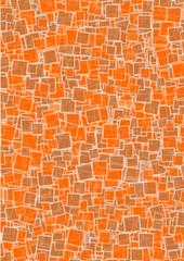 Hintergrund braun orange Quadrate