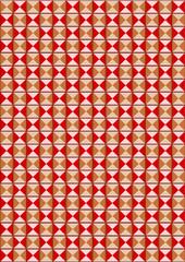Hintergrund nahtloses Muster aus Dreiecken in rosenholz