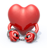 heart with arms and handcuffs on hands