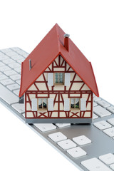 residential house on keyboard