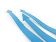 Blue three business arrow concept